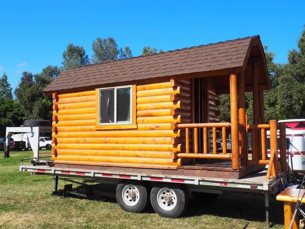 Tiny log house