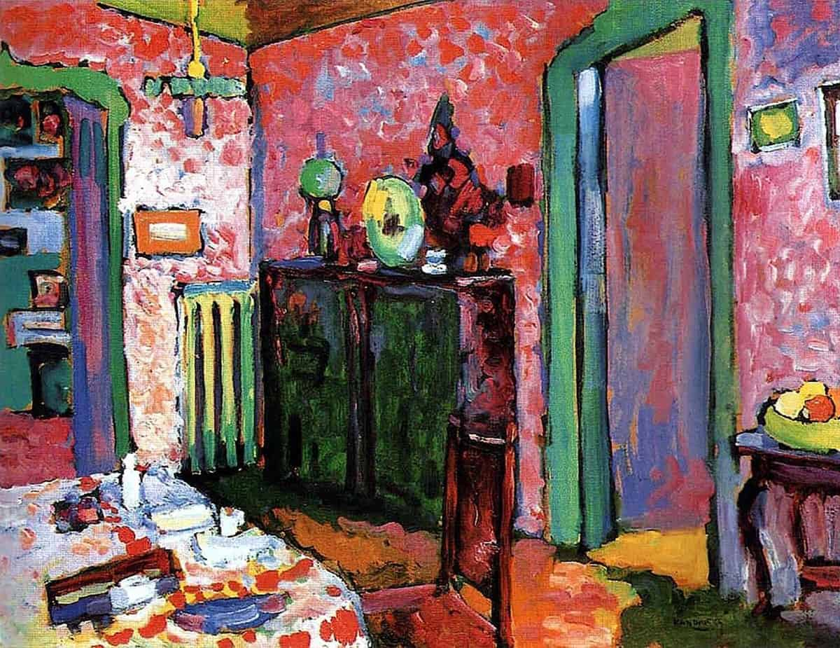 Interior (My Dining Room) by Wassily Kandinsky
