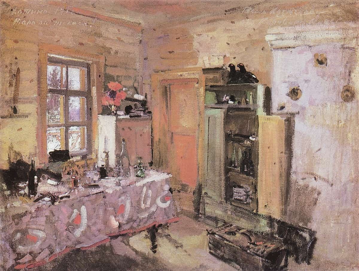 Interior by Konstantin Korovin