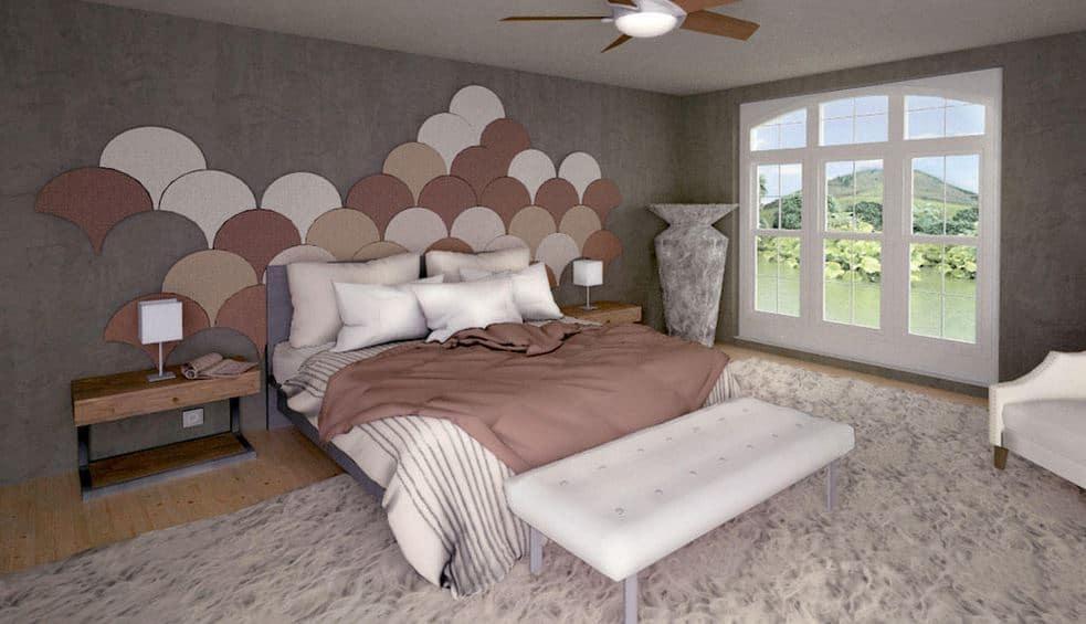 Screenshot of the Space Designer 3D Software 3D bedroom.