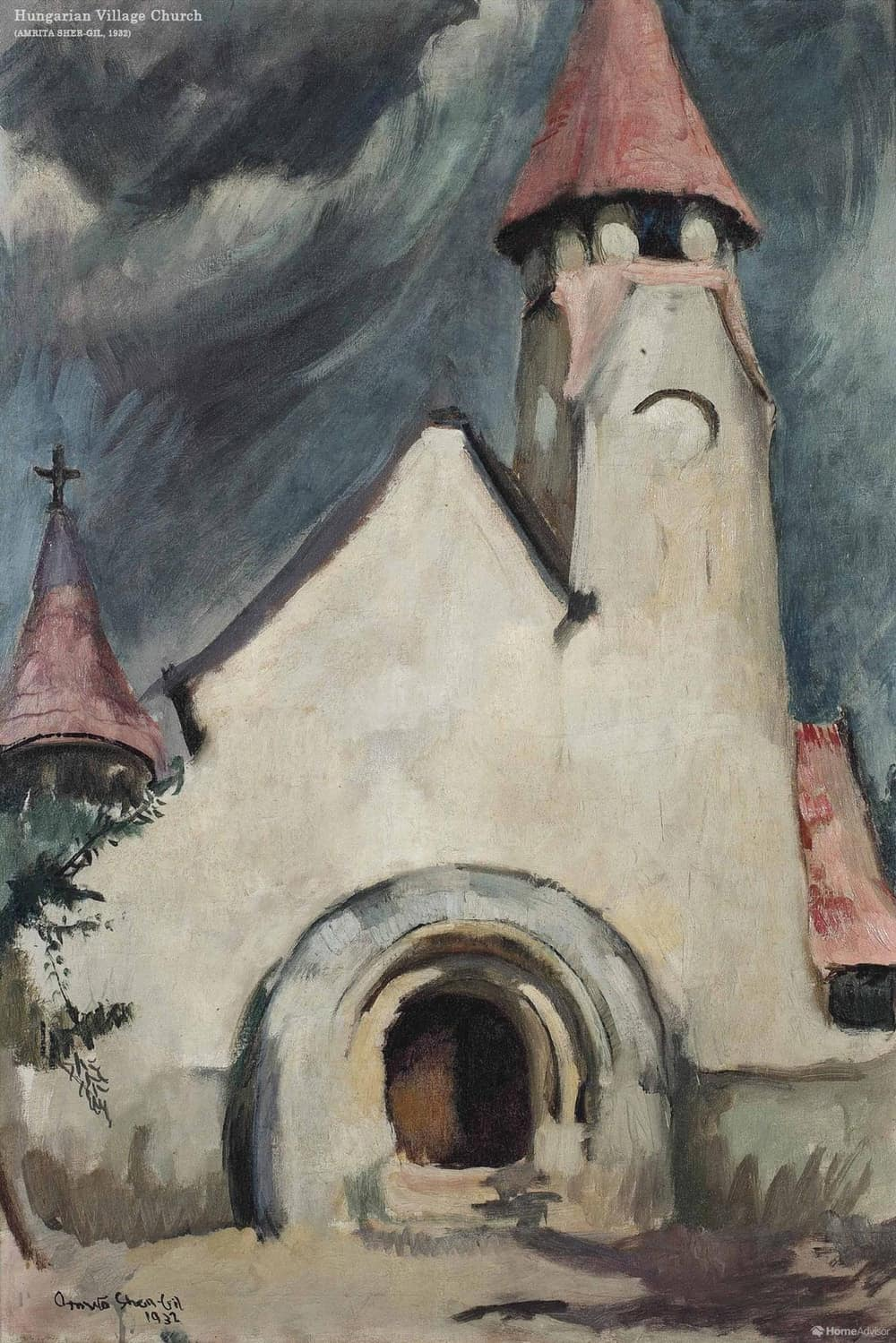 Hungarian Village Church by Amrita Sher-Gil