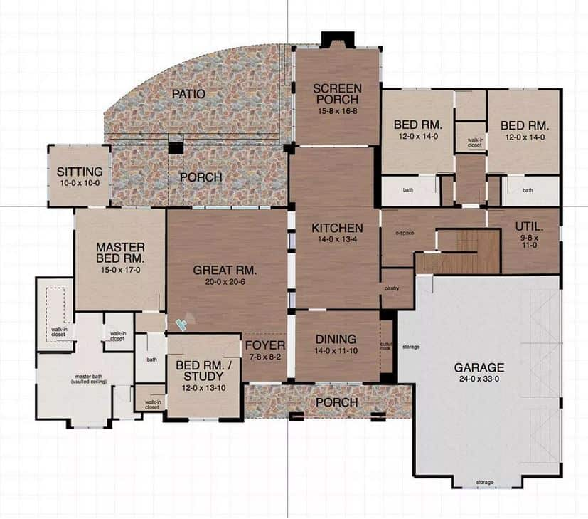 Screenshot of the Space Designer 3D Software floor plan.