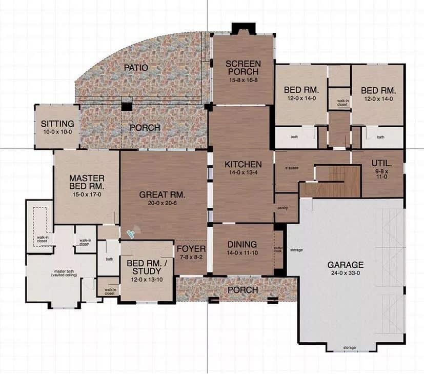 Screenshot of the Space Designer 3D Software floor plan.