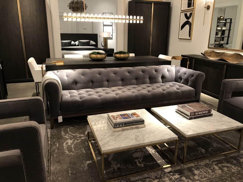 Italia Chesterfield Sofa by Restoration Hardware