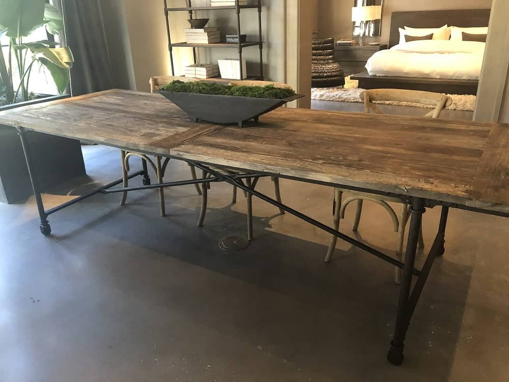 Flat Iron Dining Table by Restoration Hardware