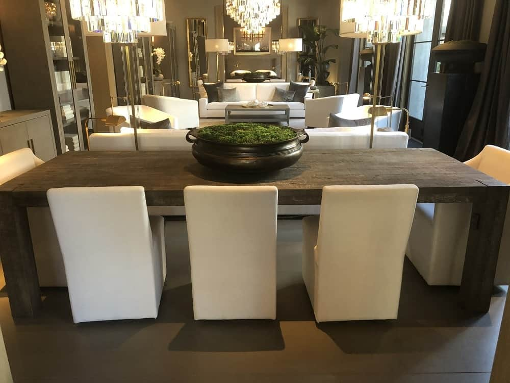 Reclaimed Russian Oak Dining Table by Restoration Hardware