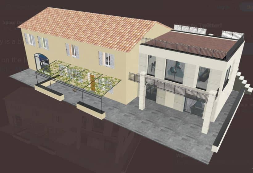 Screenshot of the Space Designer 3D Software 3D exterior.