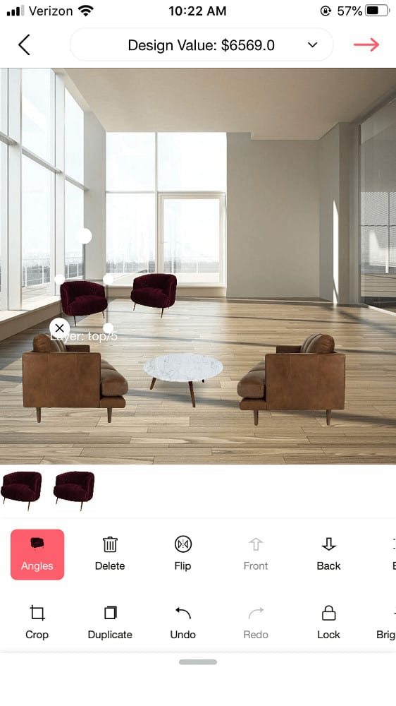 Screenshot of the DecorMatters angles.