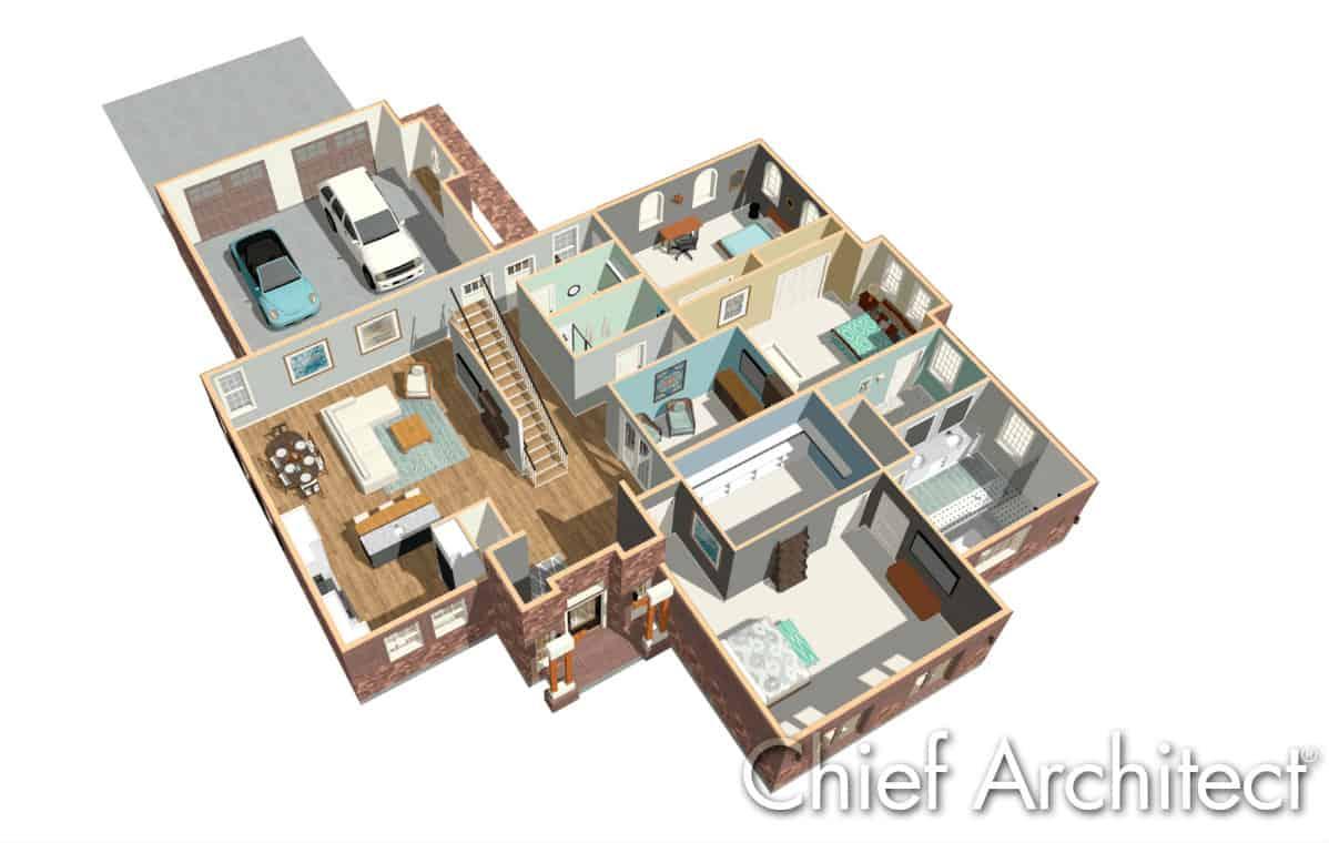 Home blueprint 3D by Home Designer Software