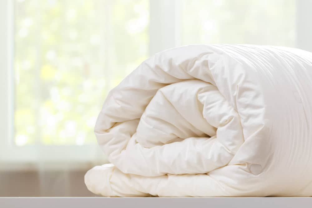 Bed with duvet