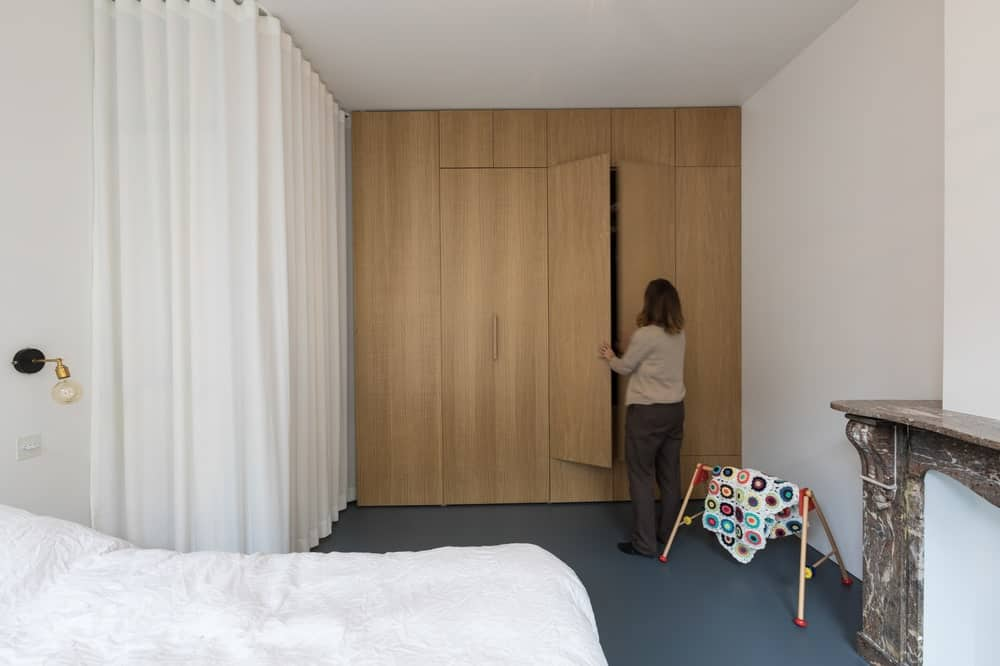 Primary bedroom in the Frans Halsstraat designed by Cantero Architecture.