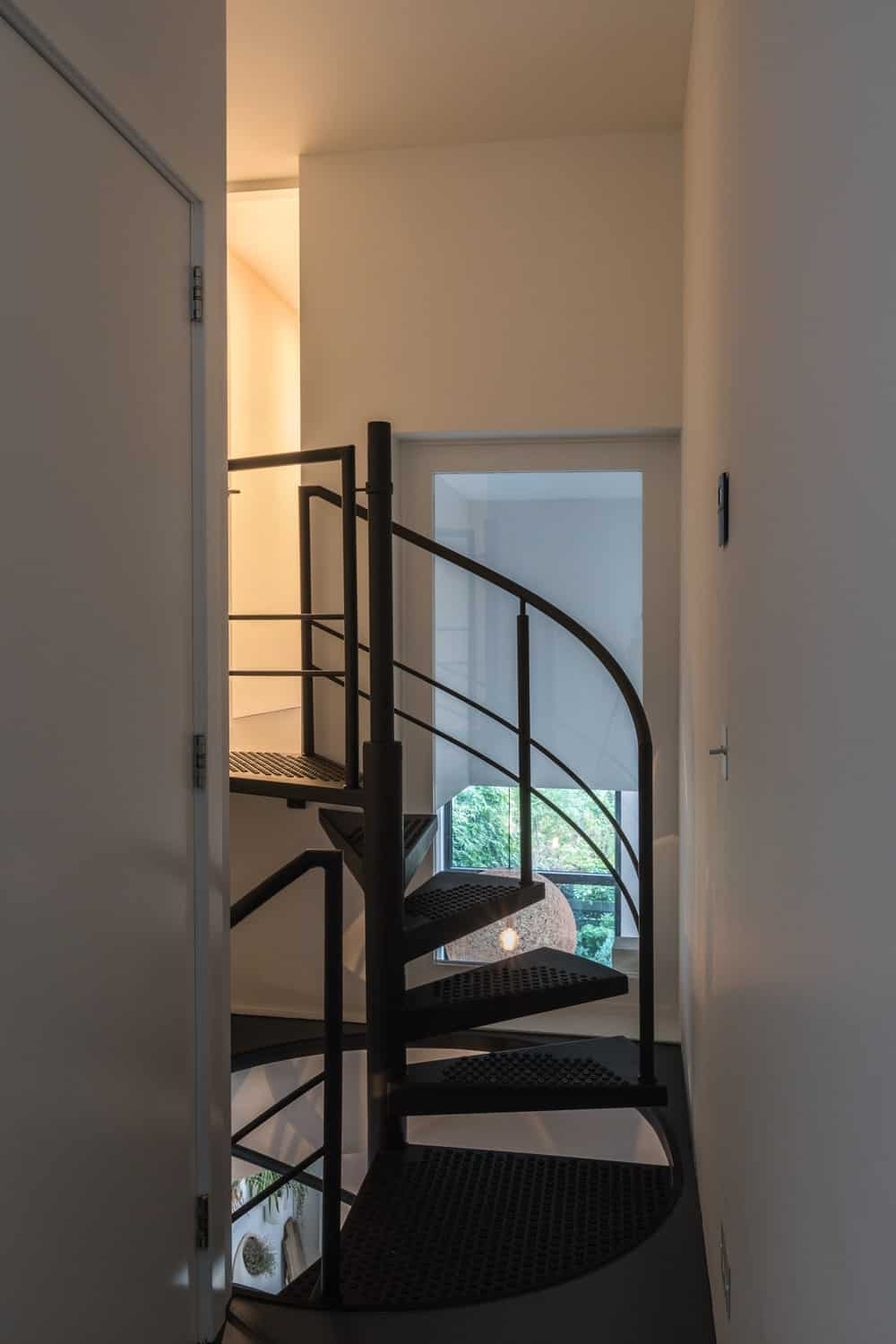 Spiral staircase in the Frans Halsstraat designed by Cantero Architecture.