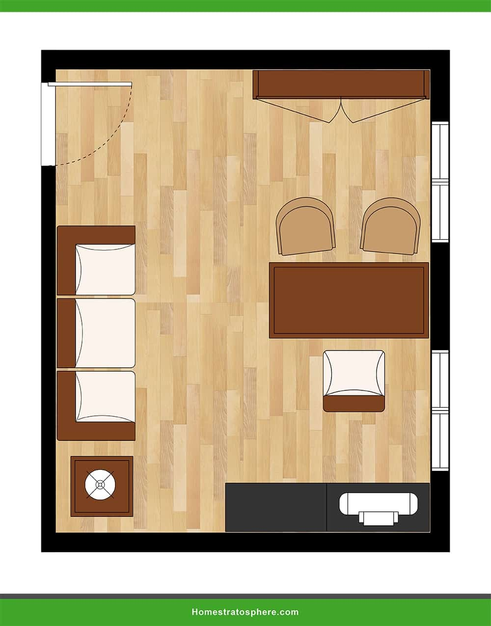 25 Home Office Layouts Illustrated Floor Plans Home Stratosphere