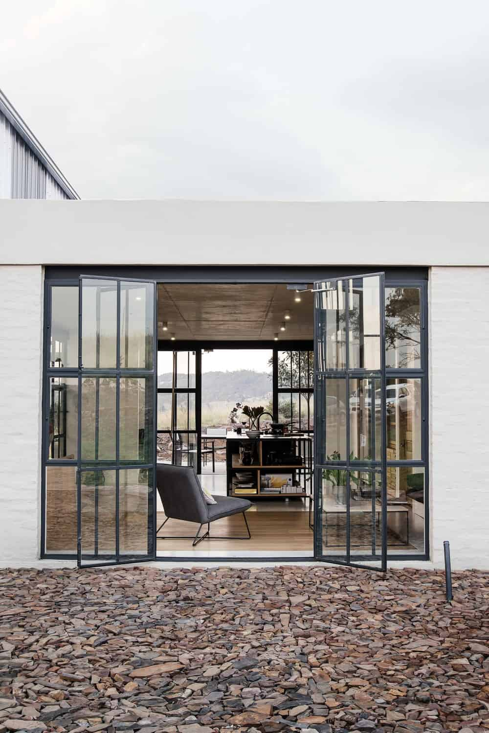 French door leading to the kitchen in The Conservatory designed by Nadine Engelbrecht.