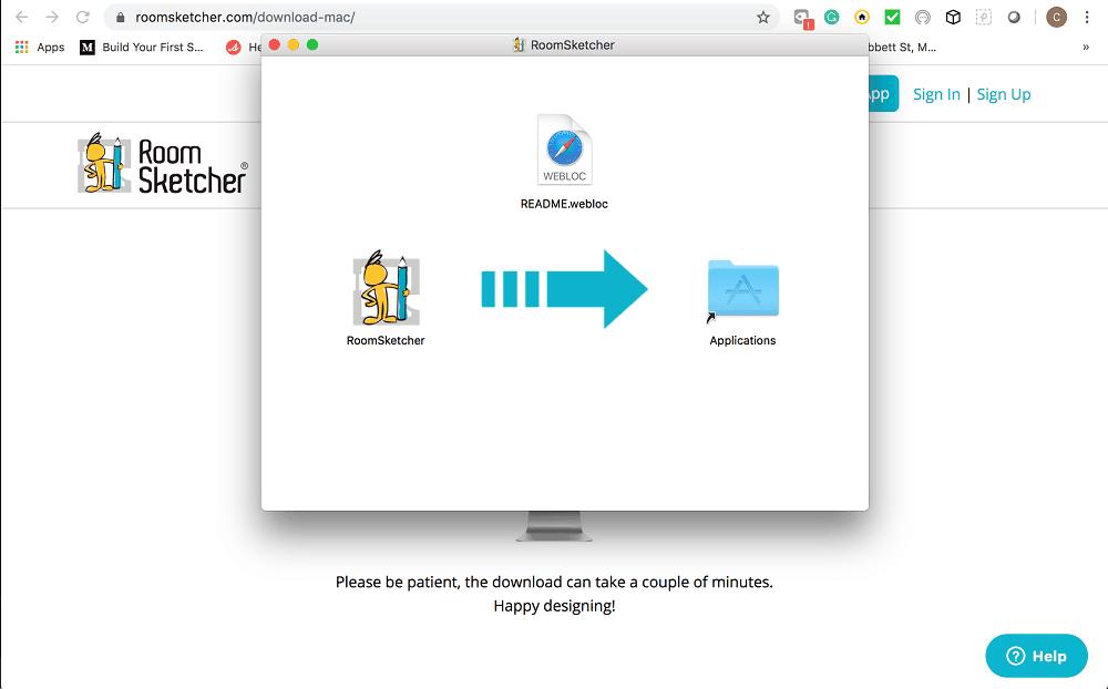 Screenshot of the RoomSketcher Software setup step 3.