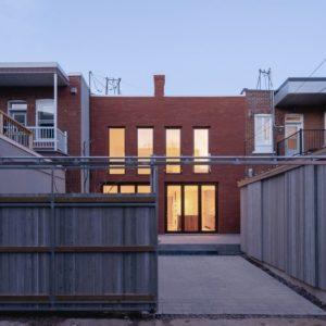 House exterior of the BRICK HOUSE designed by Natalie Dionne Architecture.