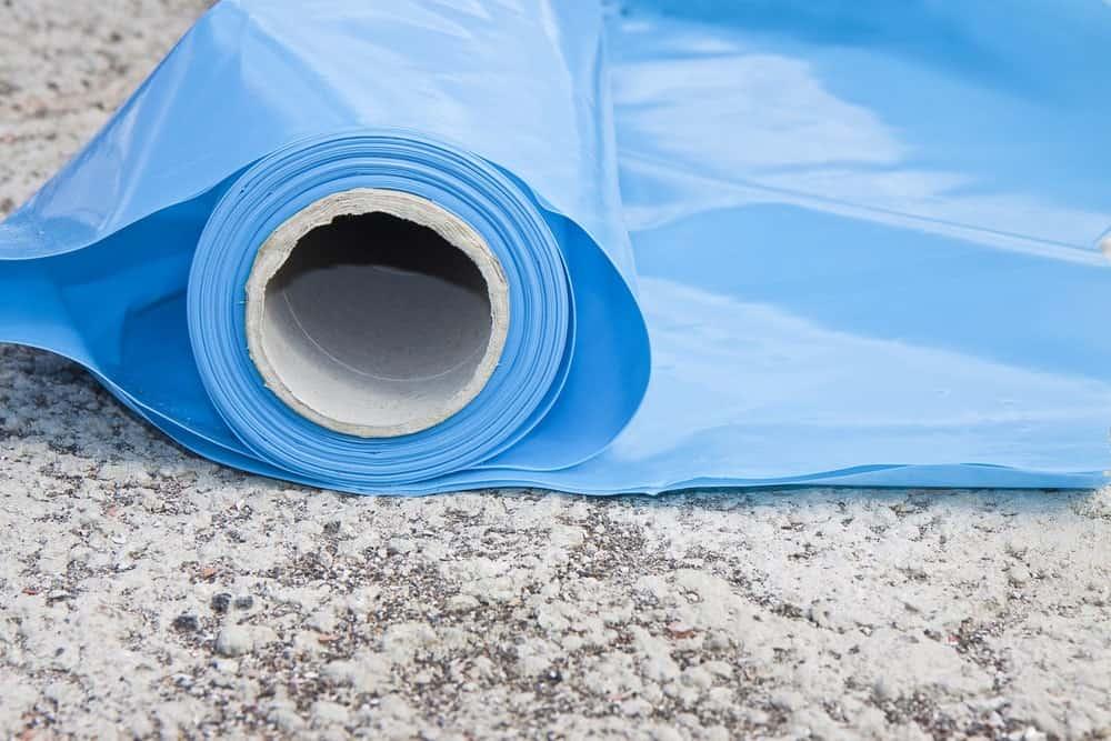 Polyethylene protection vapour barrier.
