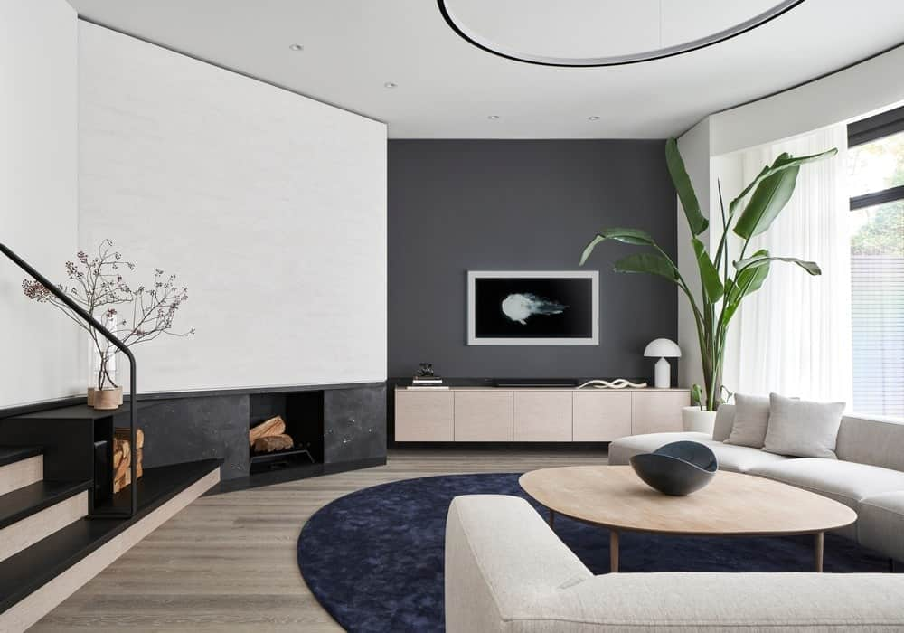 Living room in the Forest Hill House designed by Reigo & Bauer.