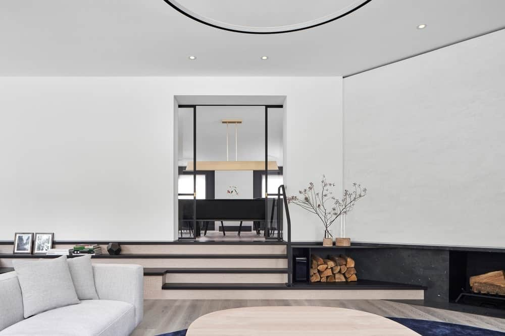 Living space in the Forest Hill House designed by Reigo & Bauer.