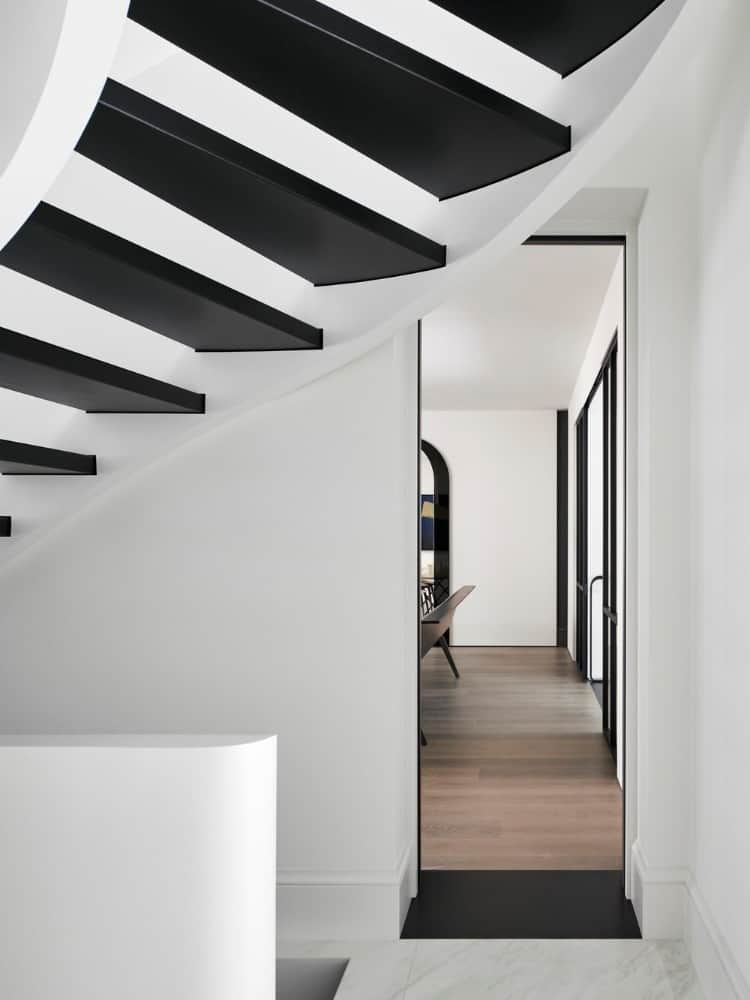 Entry hall in the Forest Hill House designed by Reigo & Bauer.