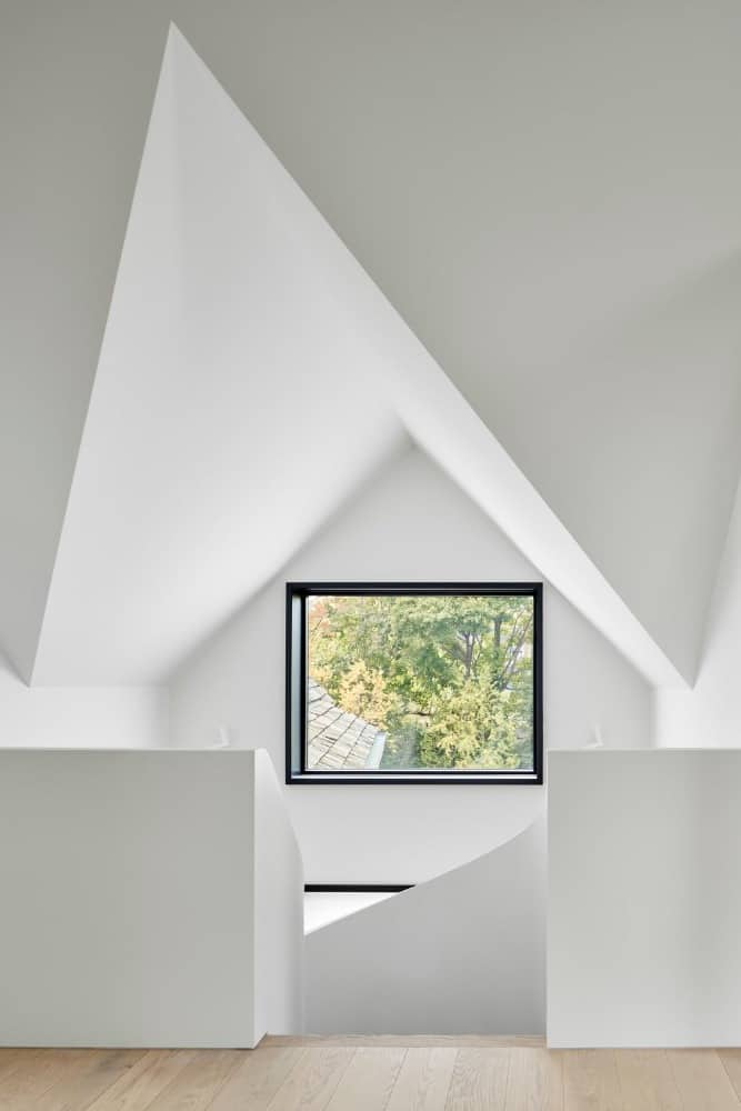 Attic in the Forest Hill House designed by Reigo & Bauer.