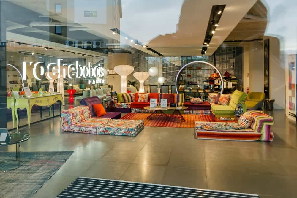 Roche Bobois showroom at Smugglers Way, London.