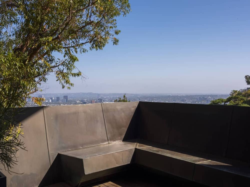 Here's a closer look at the balcony's built-in sitting area. A perfect spot to be during the sunset. Images courtesy of Toptenrealestatedeals.com.