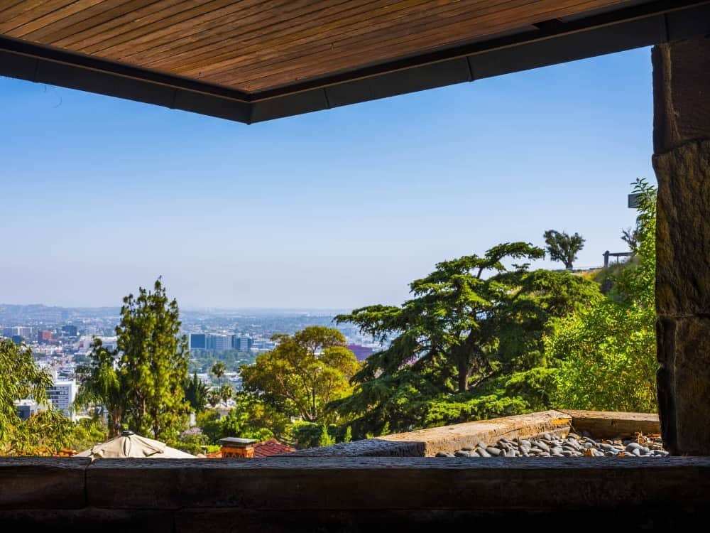 A view of the gorgeous surroundings that can be seen from the house's balcony area. Images courtesy of Toptenrealestatedeals.com.