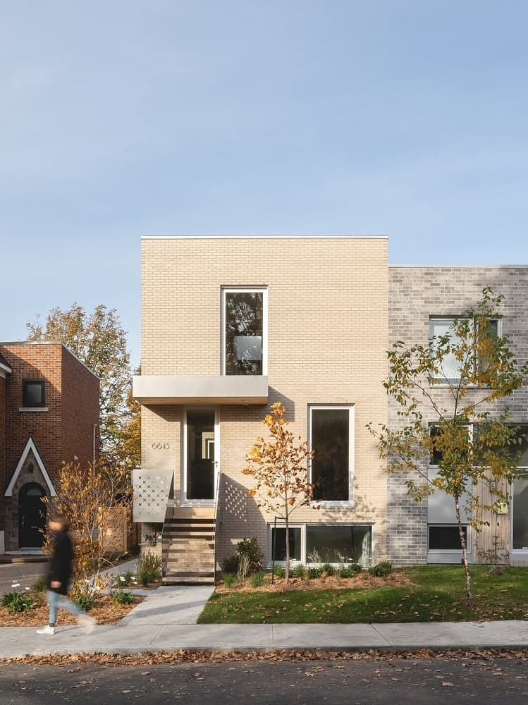 House exterior of the La Duette designed by Natalie Dionne Architecture.
