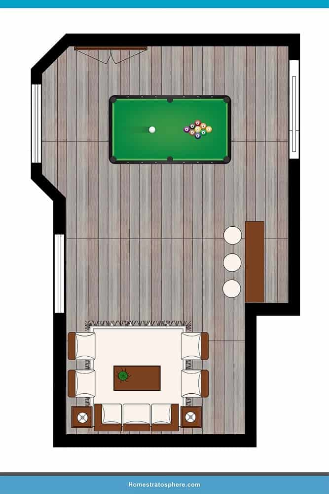 Man Cave Layout #01 - The Place To Be