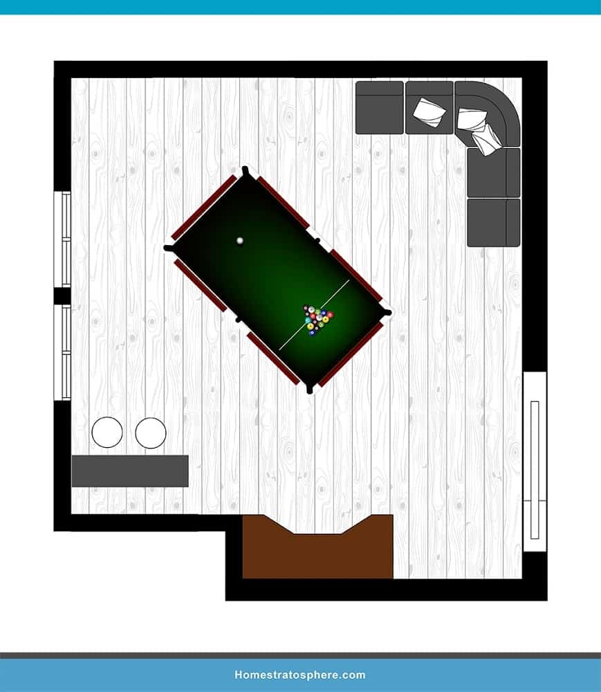 Man Cave Layout #03 - When You Take Pool Seriously