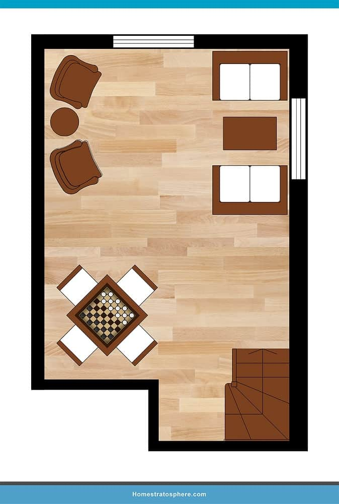 Man Cave Layout #06 - A Space for Any Need