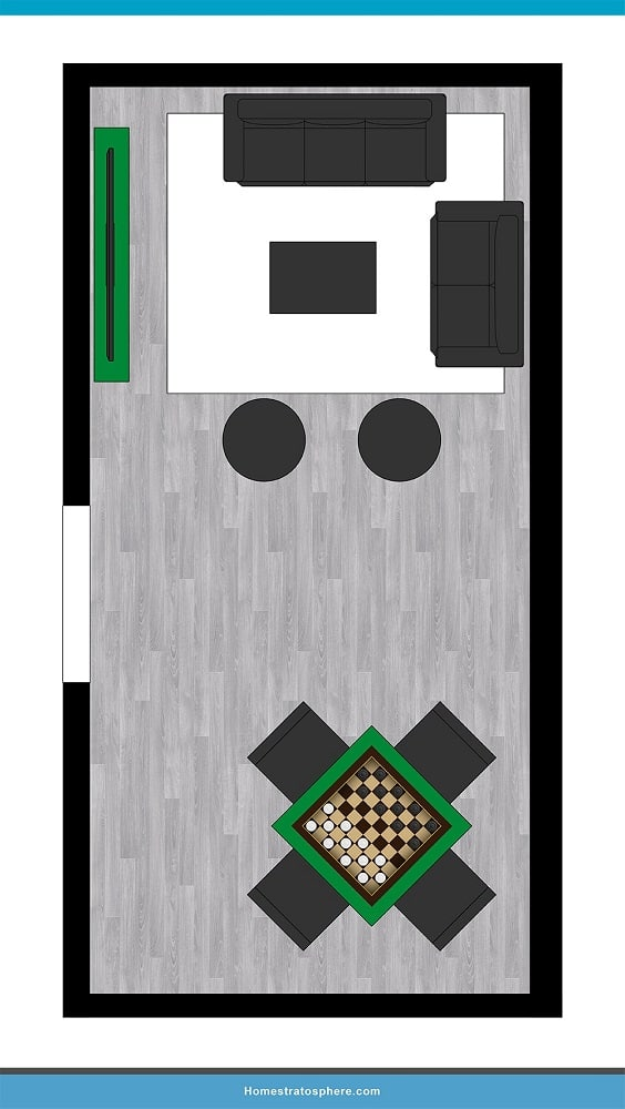 Man Cave Layout #07 - Your Place for the Game