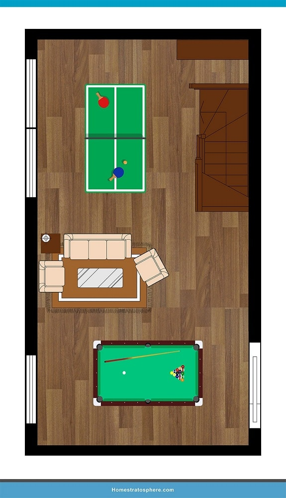 Man Cave Layout #10 - Something for Everyone