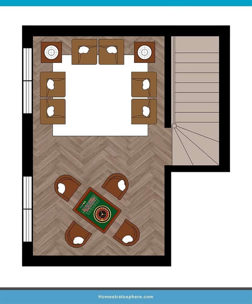 Man Cave Layout #11 - A Versatile Space