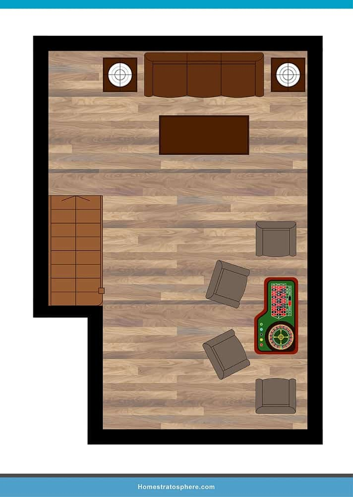 Man Cave Layout #12 - A Quiet Night In