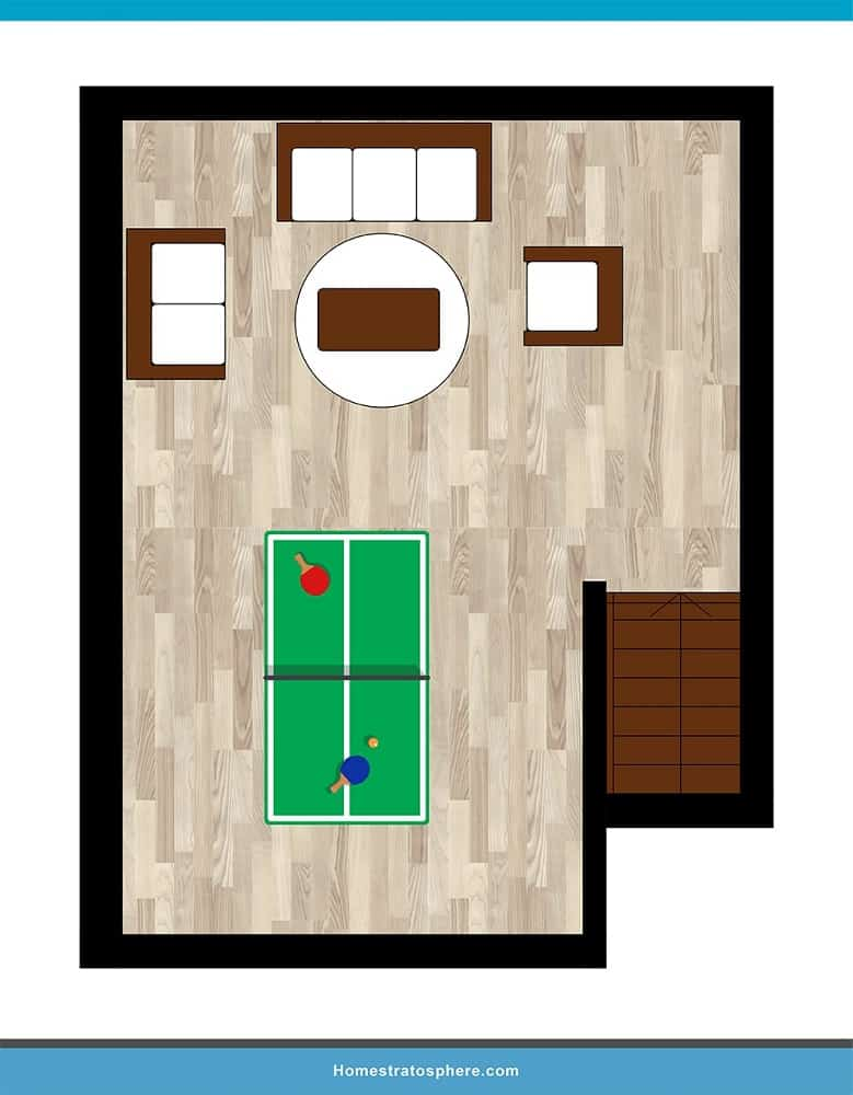 Man Cave Layout #13 - Pong & Chill