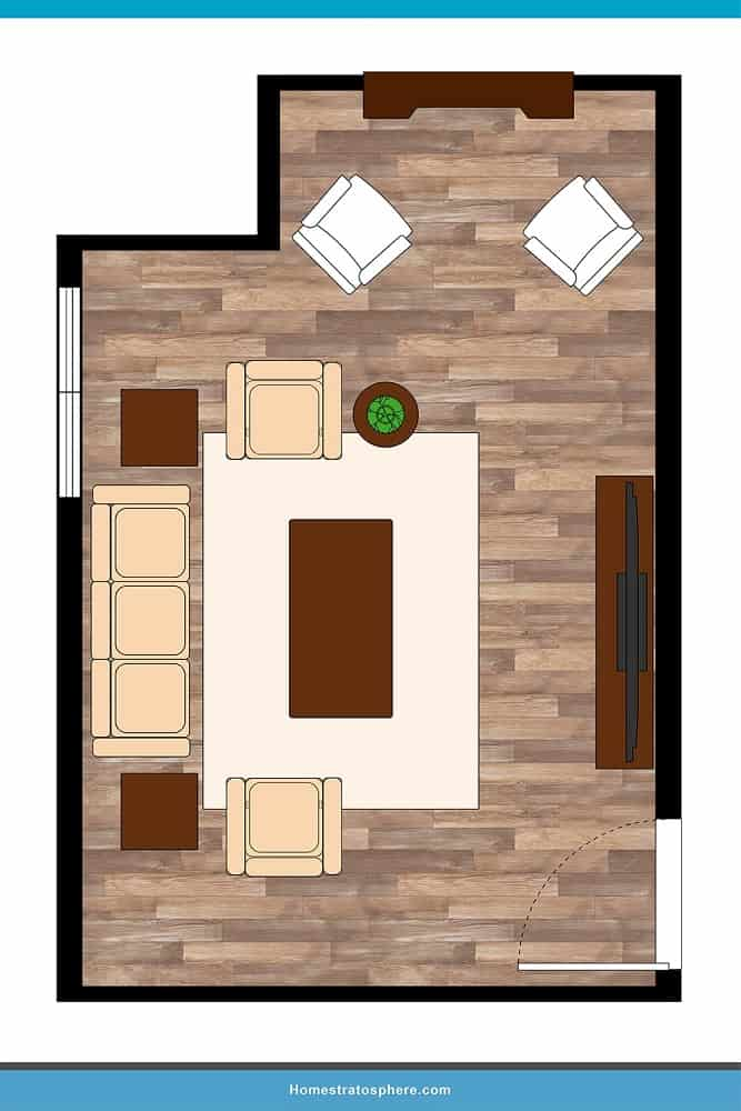 Man Cave Layout #16 - A Casual Spot