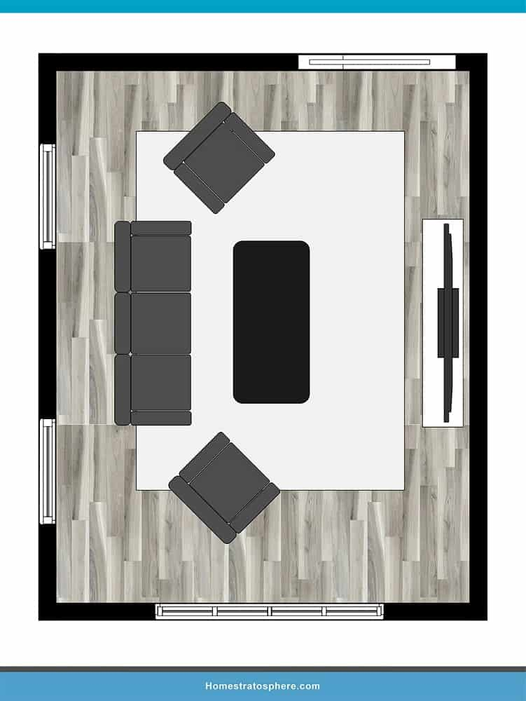Man Cave Layout #17 - Kick Back and Relax