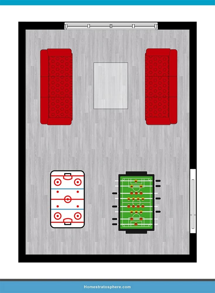 Man Cave Layout #21 - Arcade-Style Man Cave