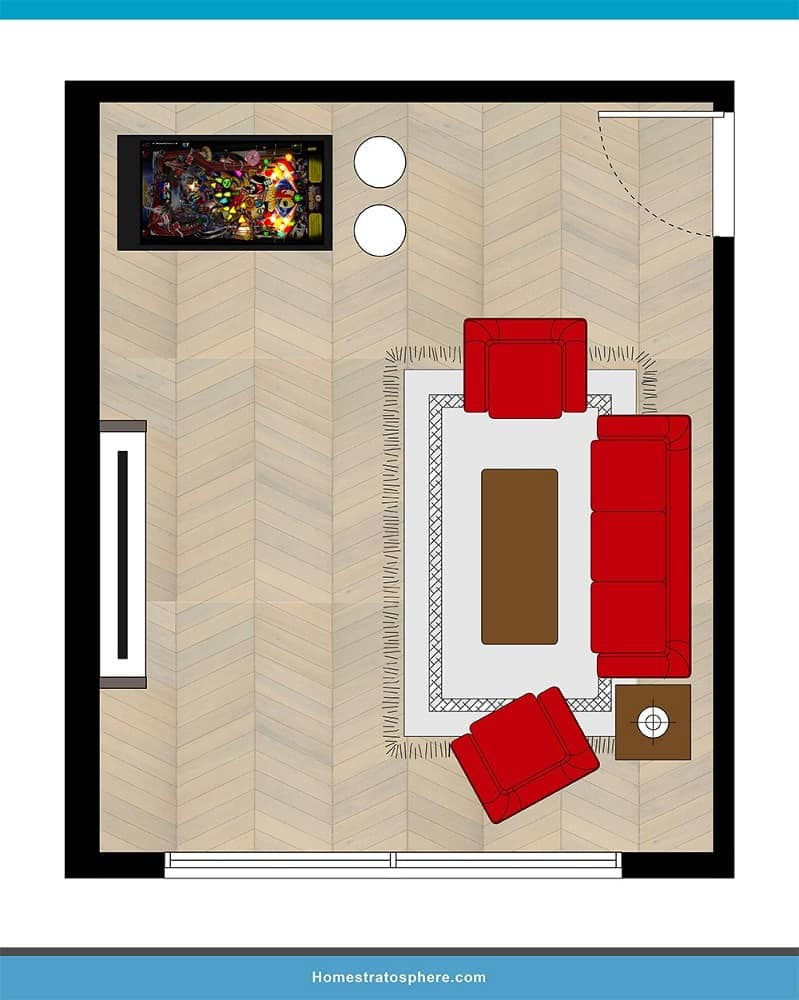 Man Cave Layout #22 - Pinball for Your TV Breaks