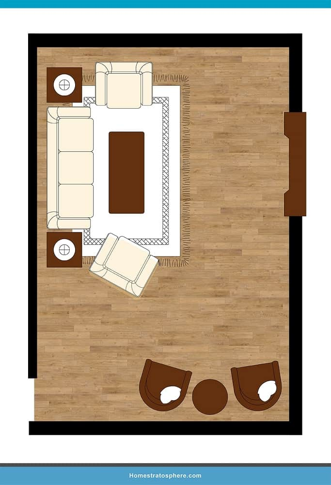 Man Cave Layout #27 - A Cozy Night By the Fire