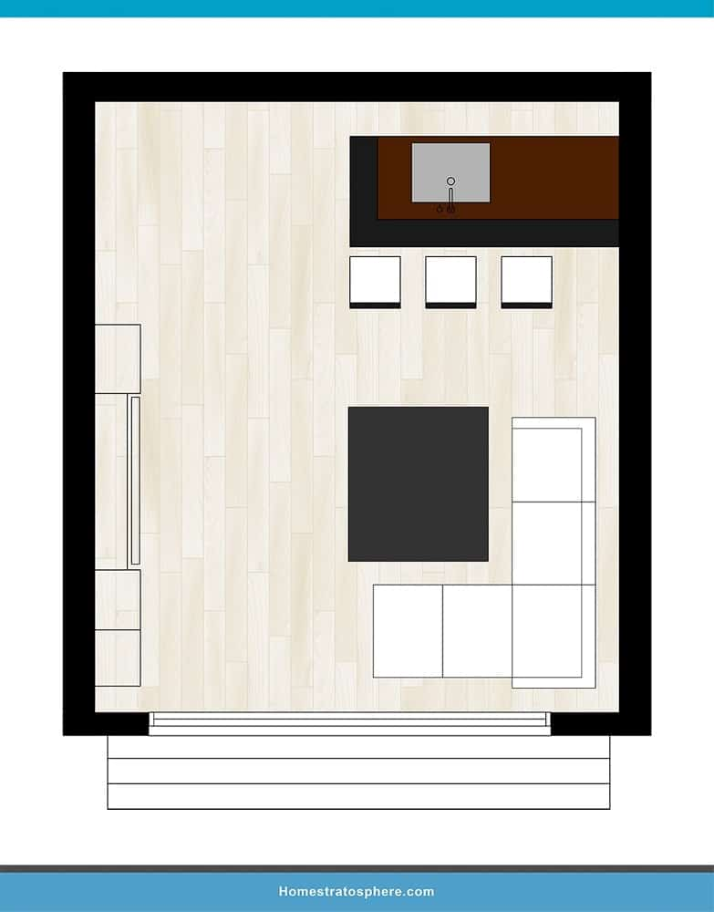 Man Cave Layout #28 - An Entertaining Space