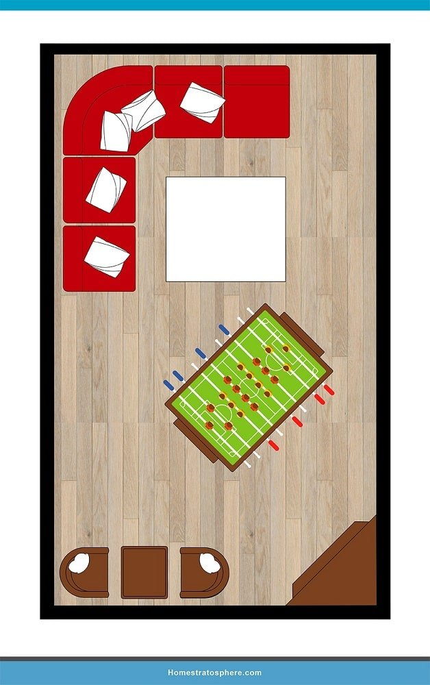 Man Cave Layout #31 - Try a Refreshing Angle