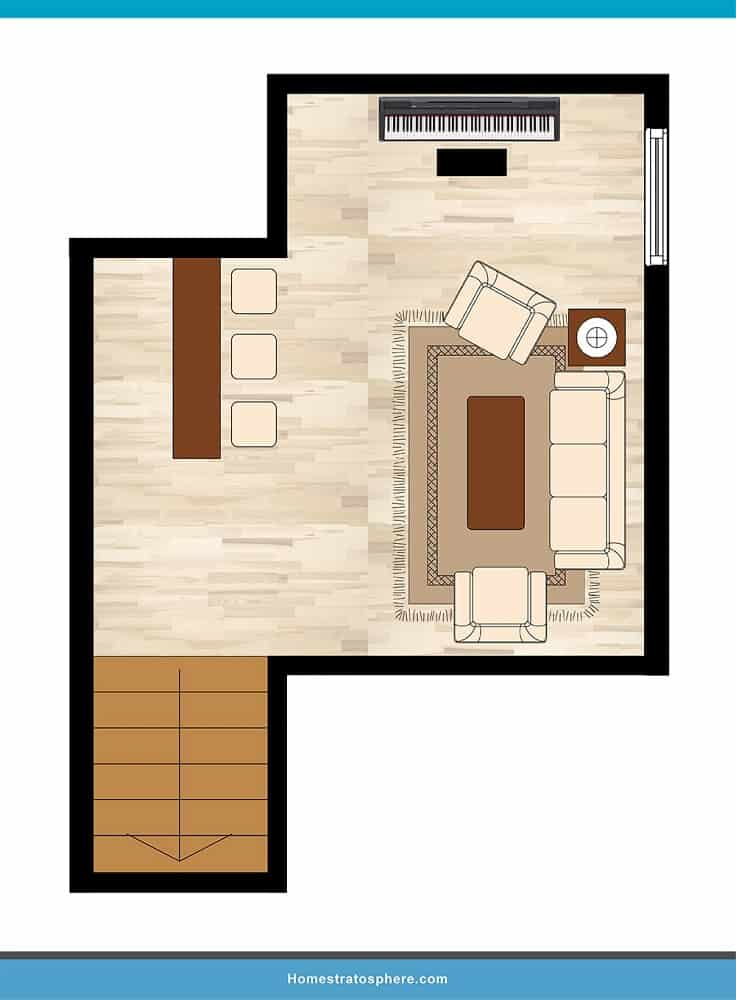 Man Cave Layout #32 - Be the Maestro