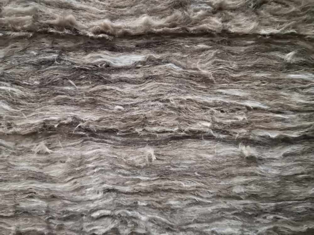 Mineral wool for thermal insulation.