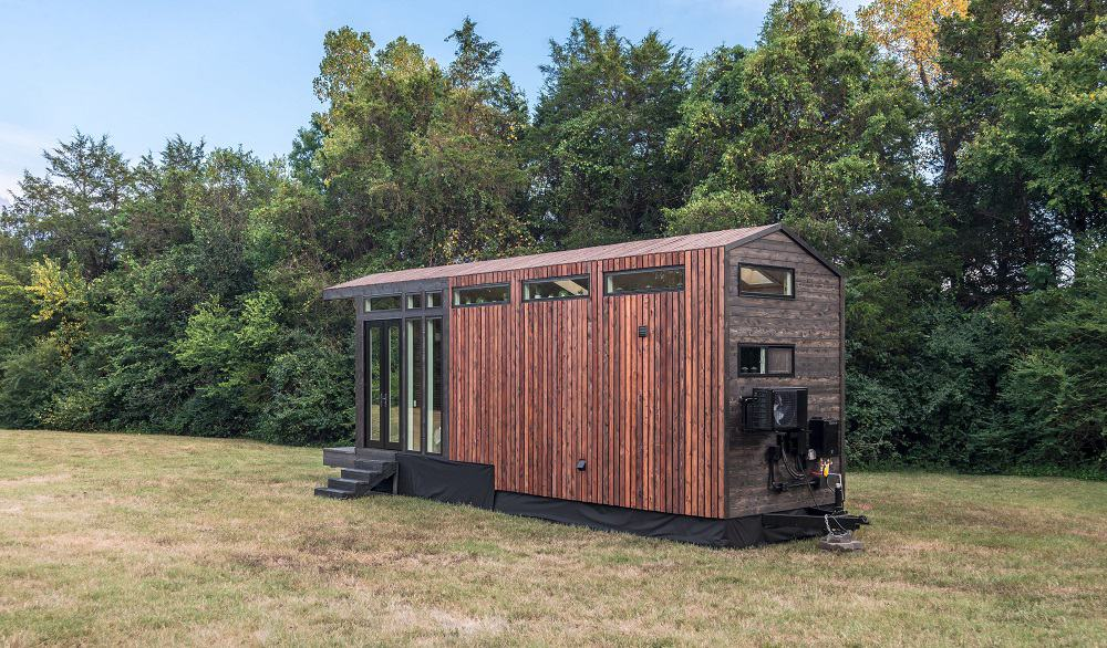 House exterior of the Orchid Tiny House designed by New Frontier Tiny Homes.