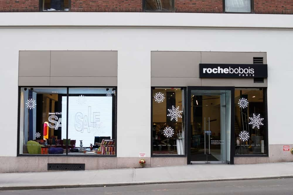 Roche Bobois storefront at 200 Madison Ave, New York.