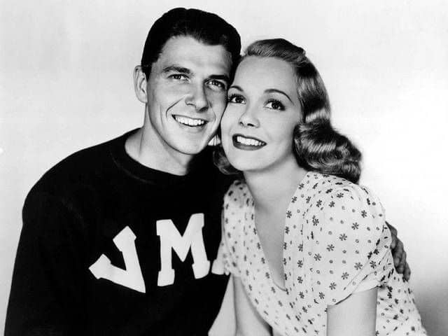 A portrait of young Ronald Reagan with his beautiful wife, actress Jane Wyman. Images courtesy of Toptenrealestatedeals.com.