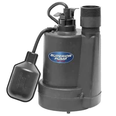 A screenshot of the Lowe's sump pump product for sale.